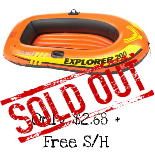 80% off INTEX Explorer Inflatable Boat : $2.68 + Free S/H
