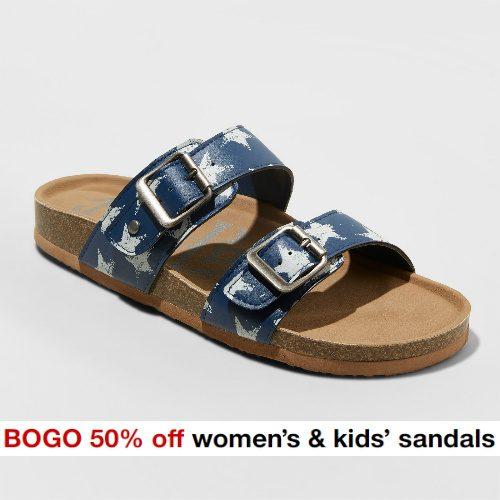 Target : Buy 1, Get 1 50% off Women's and Kids' Sandals