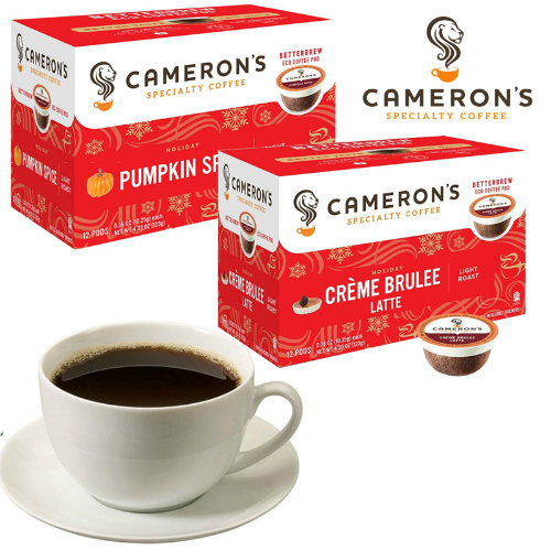 72% off 72-PK of Cameron's Coffee K-Cup Pods in Pumpkin Spice : Only $14.99 + Free S/H