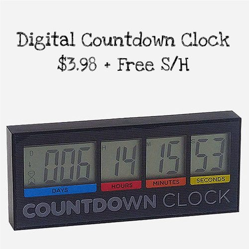 60% off Digital Countdown Clock : Only $3.98 + Free S/H