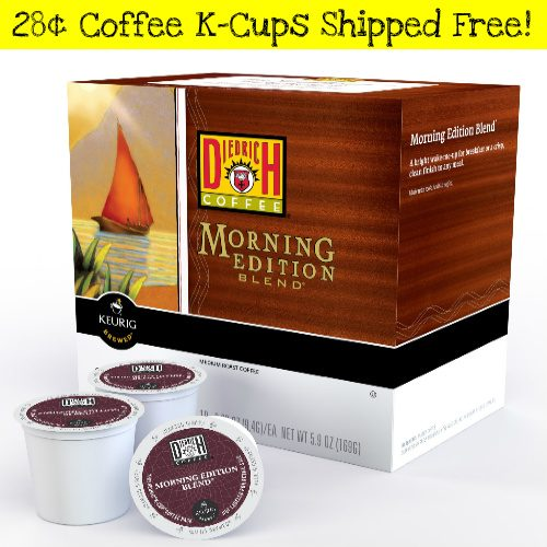 Diedrich K-Cup Coffee Pods : 28¢ each + Free S/H
