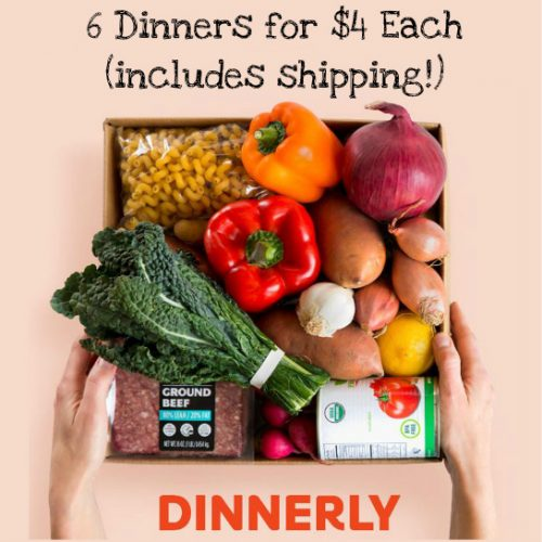 Dinnerly Meal Kits : Complete Dinners for $4 per serving!