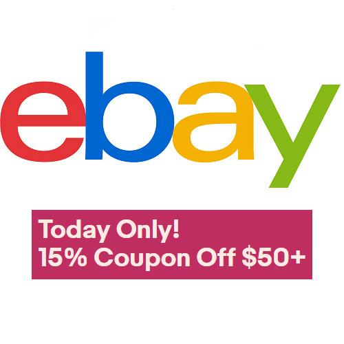 Ebay : 15% off $50 or more