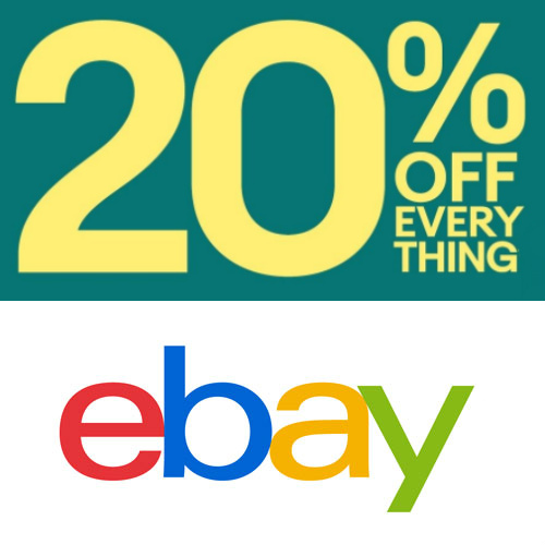 Rare ebay Coupon : 20% off $25 or more