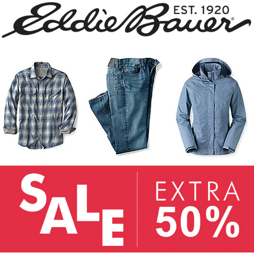 Eddie Bauer : Extra 50% off Clearance items
