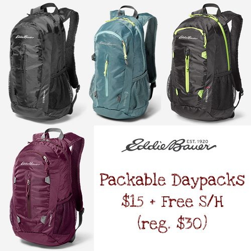 50% off Eddie Bauer Daypacks : Only $15 + Free S/H
