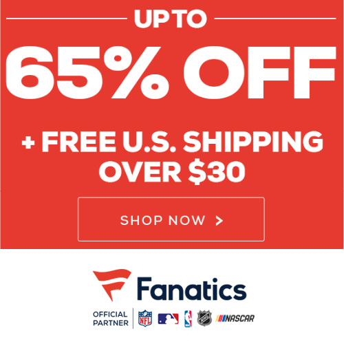 Fanatics : Up to 65% off + Free S/H on $30