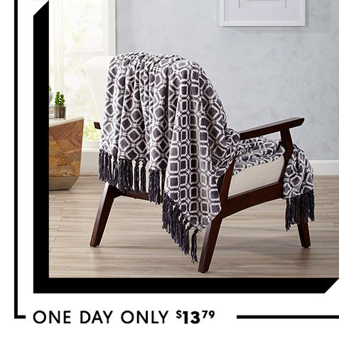 77% off Fringe Throws : Only $13.79 + Free S/H