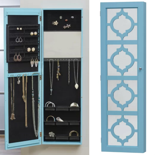 64% off Hanging Mirror Jewelry Armoire : $86.99 + Free S/H