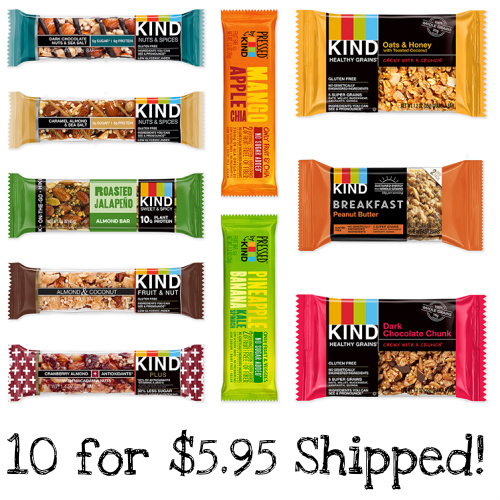 10-PK of KIND Bars and Snacks : Only $5.95 Shipped