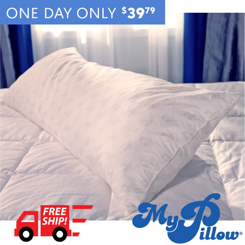 54% off MyPillow Body Pillow : $39.79 + Free S/H