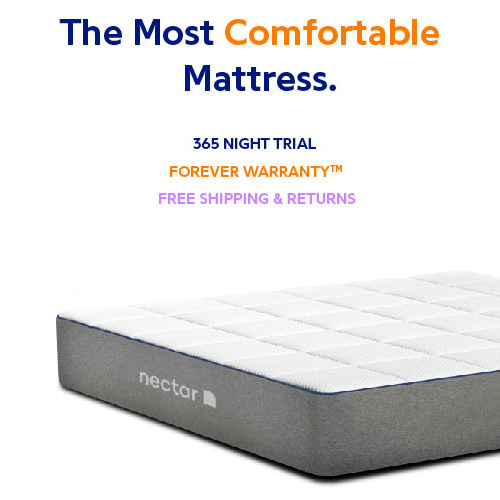 NECTAR Mattress : $125 off All Sizes + 2 Free Pillows + Free S/H