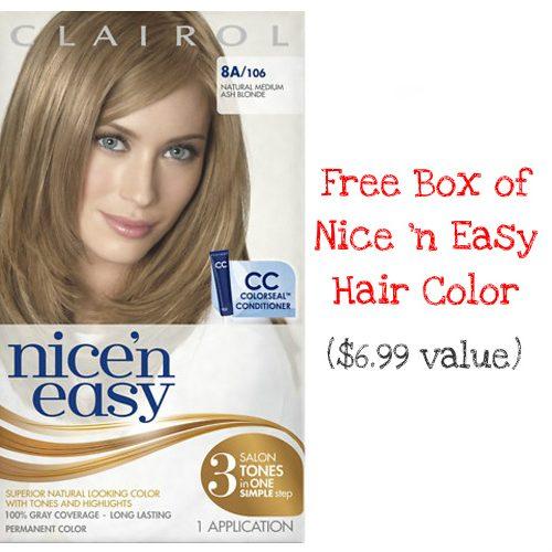 Clairol : Free Box of Nice 'n Easy Hair Color