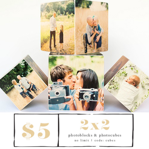 75% off Personalized Photo Cubes : Only $5