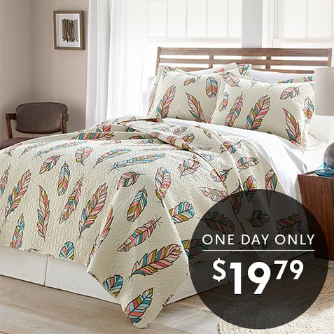 Up to 88% off 3-PC Quilt Sets : Only $19.79 any size