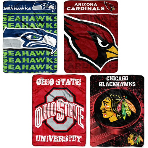 40% Off Sports Team Throw Blankets Only 4040 Free SH Impressive Team Throw Blankets