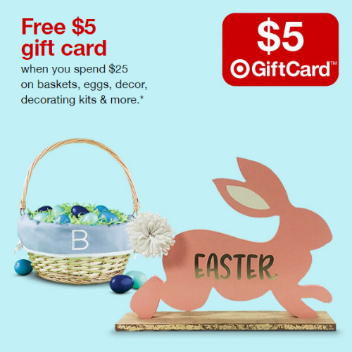 Target : Free $5 Gift Card w/$25+ Easter order