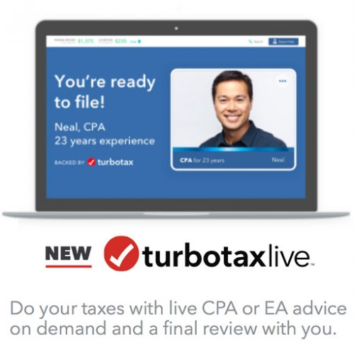 Turbo Tax Live : $20 off Guided Tax Filing