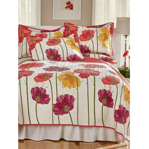 70% off Twin Poppy Field Quilt : Only $17.97 + Free S/H