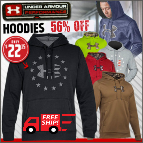 56% off Men's Under Armour Hoodies : Only $22.15 + Free S/H