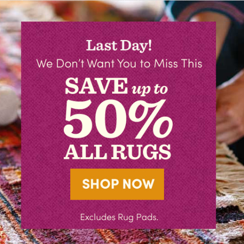 Cost Plus World Market : Up to 50% off all Rugs + Free S/H on $49