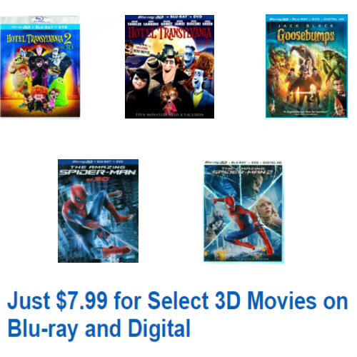 Up to 68% off 3D Blu-ray Movies for Kids : Only $7.99