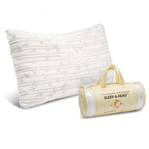 85% off Clara Clark Queen Memory Foam Bamboo Pillow : $19.99 + Free S/H
