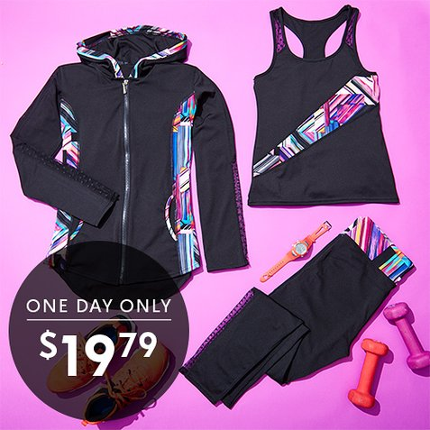 75% off Women's 3-PC Activewear Sets : Only $19.79