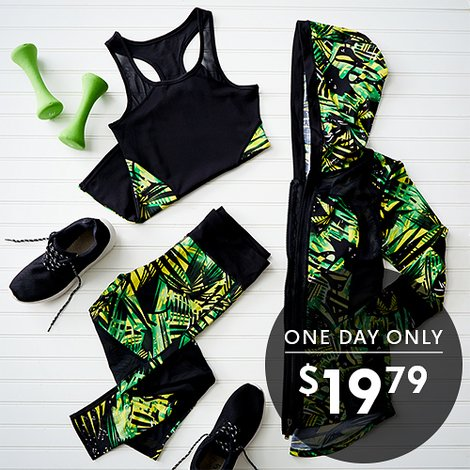 79% off Women's 3-PC Activewear Sets : Only $19.79