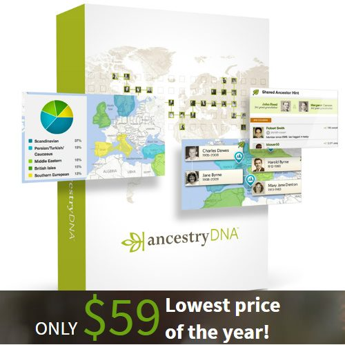 $40 off Ancestry DNA Test : Only $59
