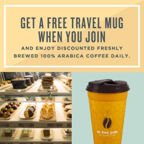 au bon pain : Free Travel Mug Giveaway