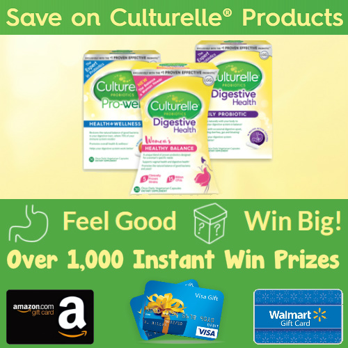 Culturelle Coupon + Sweepstakes : Over 1,000 Instant Win Prizes