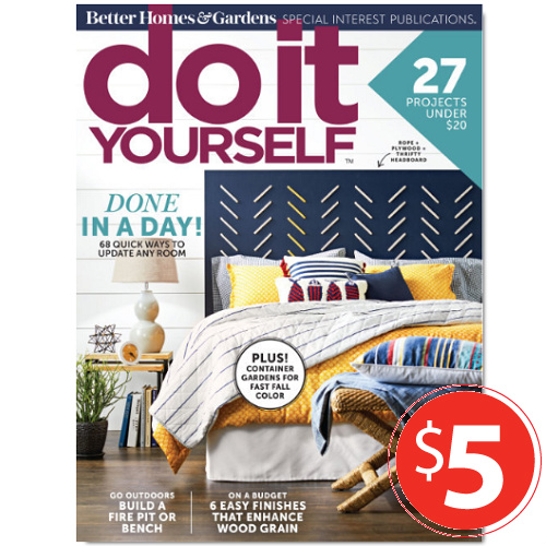 58% off 1-YR Do It Yourself Magazine Subscription : Only $5