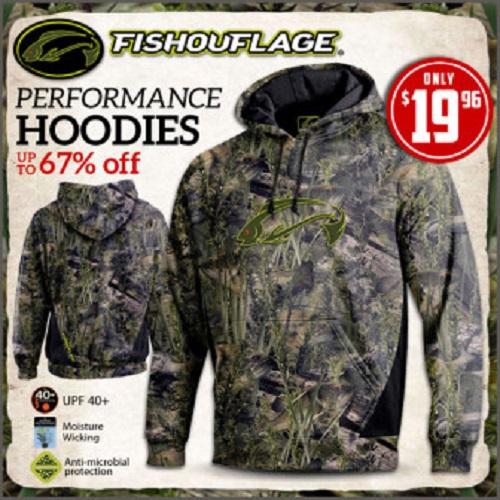67% off Men's Fishouflage Hoodies : $19.96 + Free S/H