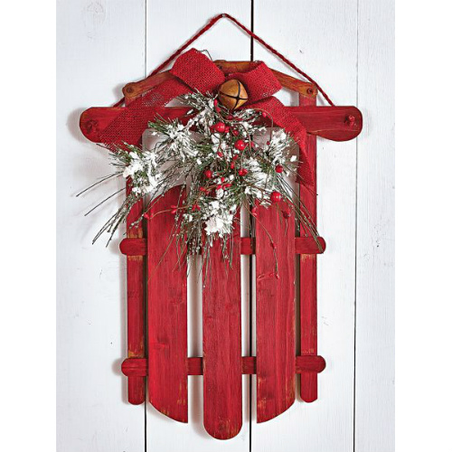 76% off Holiday Sled Wall Decor : $5.97 + Free S/H