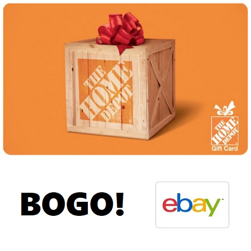 Buy a $100 Home Depot Gift Card, Get a Free $10 Ebay Gift Card