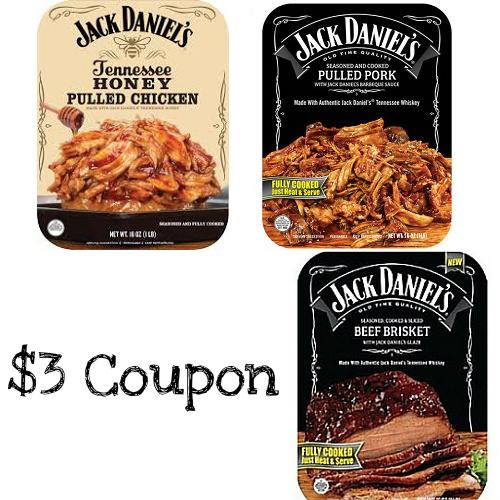Jack Daniels BBQ Meats : $3 Printable Coupon