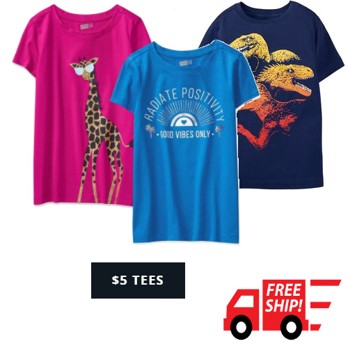 54% off Baby & Kids' Tees : Only $5 + Free S/H