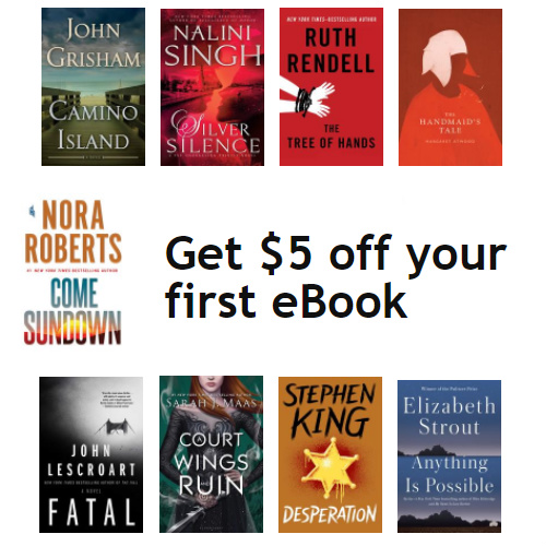Kobo : $5 off your First eBook