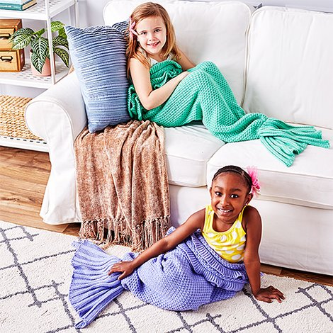 Mermaid Tail Blankets : Only $12.99