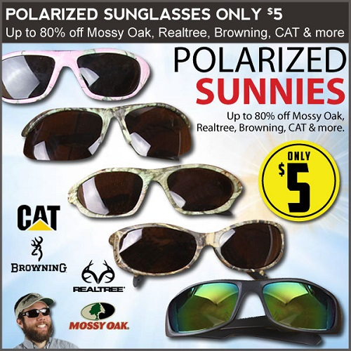 80% off Mossy Oak and Realtree Sunglasses : Only $5