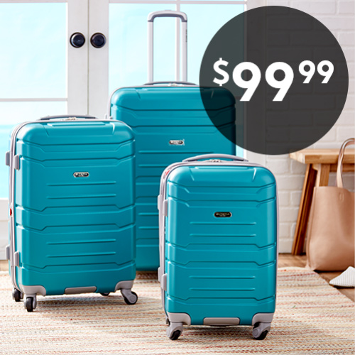 67% off Olympia Denmark 3-PC Luggage Set : Only $99.99