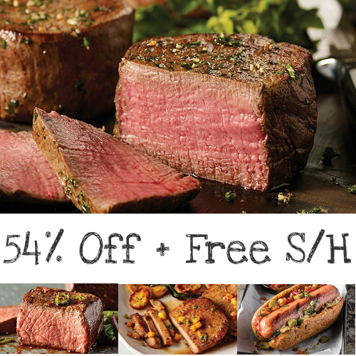 54% off The Best of Omaha Steaks Combo : $59.99 + Free S/H