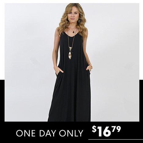 78% off Sleeveless Maxi Dress w/Pockets : Only $16.79