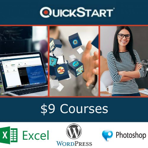 Up to 81% off QuickStart Online Courses : Only $9