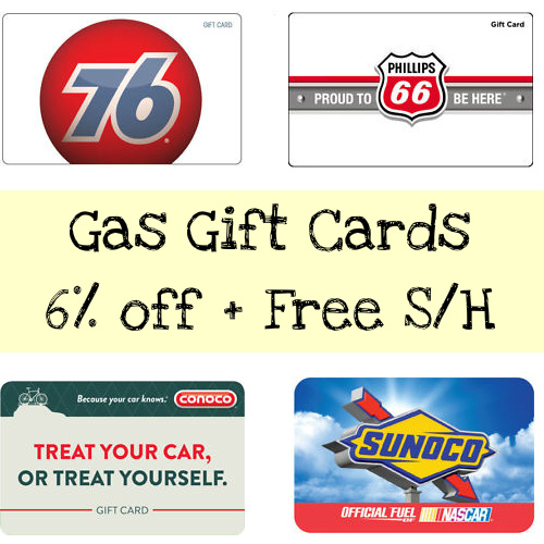6% off $100 Gas Gift Cards : Only $94 + Free S/H
