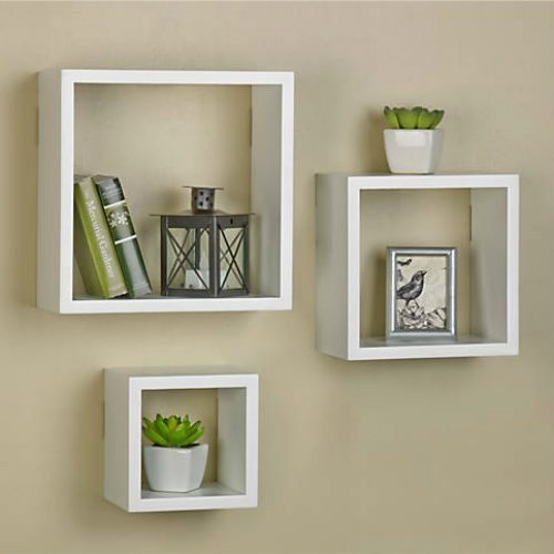 82% off Set of 3 Square Wood Shelves : $6.99 + Free S/H