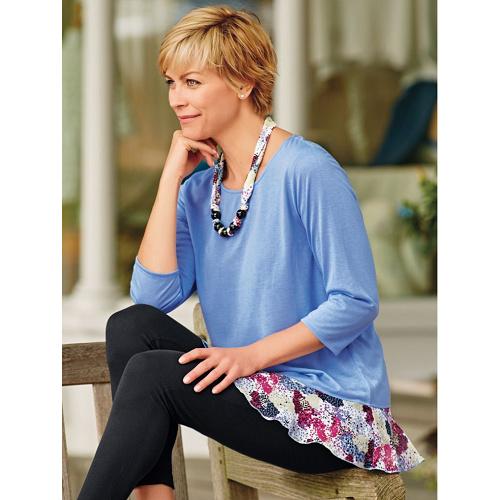 78% off Women's Ruffle Hem Tunic w/Necklace : $8.98 + Free S/H