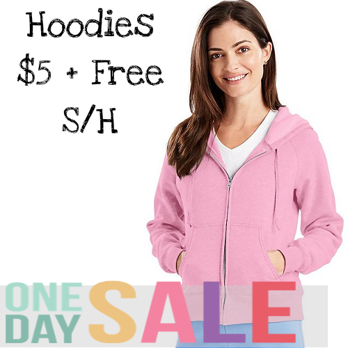 77% off Women's Hanes Hoodies : 2 for $9.99 + Free S/H