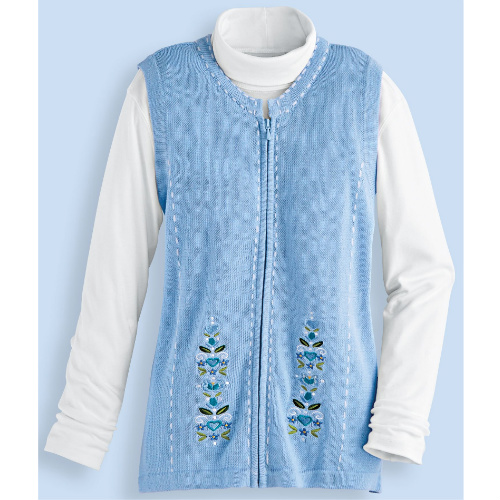 85% off Women's Embroidered Sweater Vest : $5.97 + Free S/H